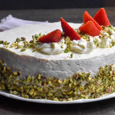 Italian strawberries and cream cake