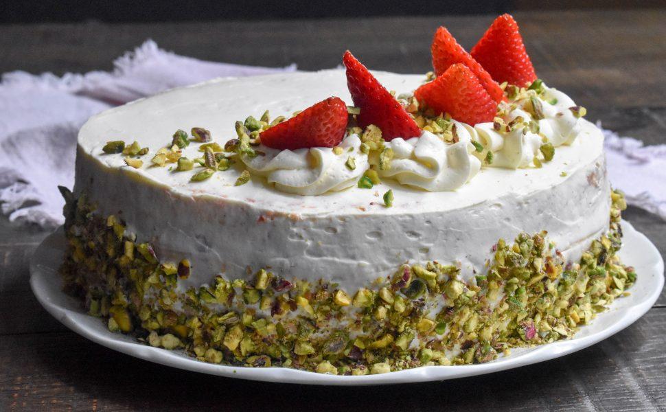 Italian strawberries and cream cake