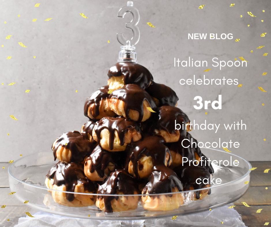 Italian Spoon celebrates 3rd birthday with Chocolate Profiterole cake