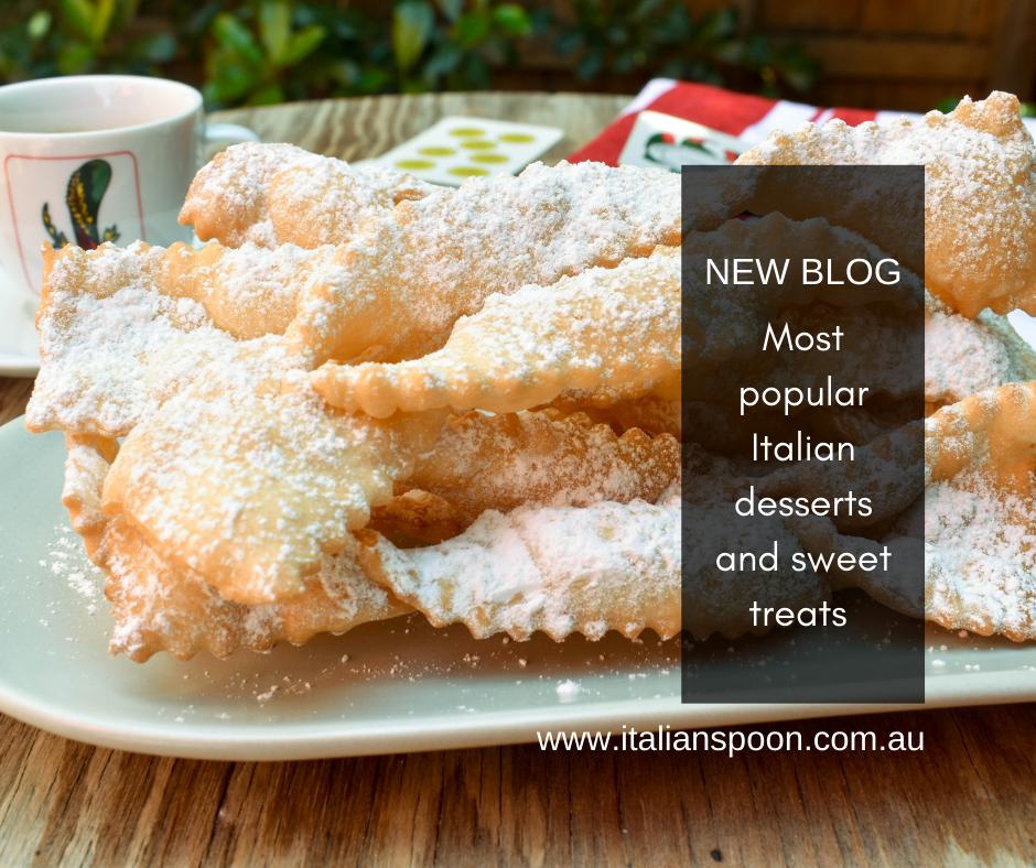Most popular Italian desserts and sweet treats